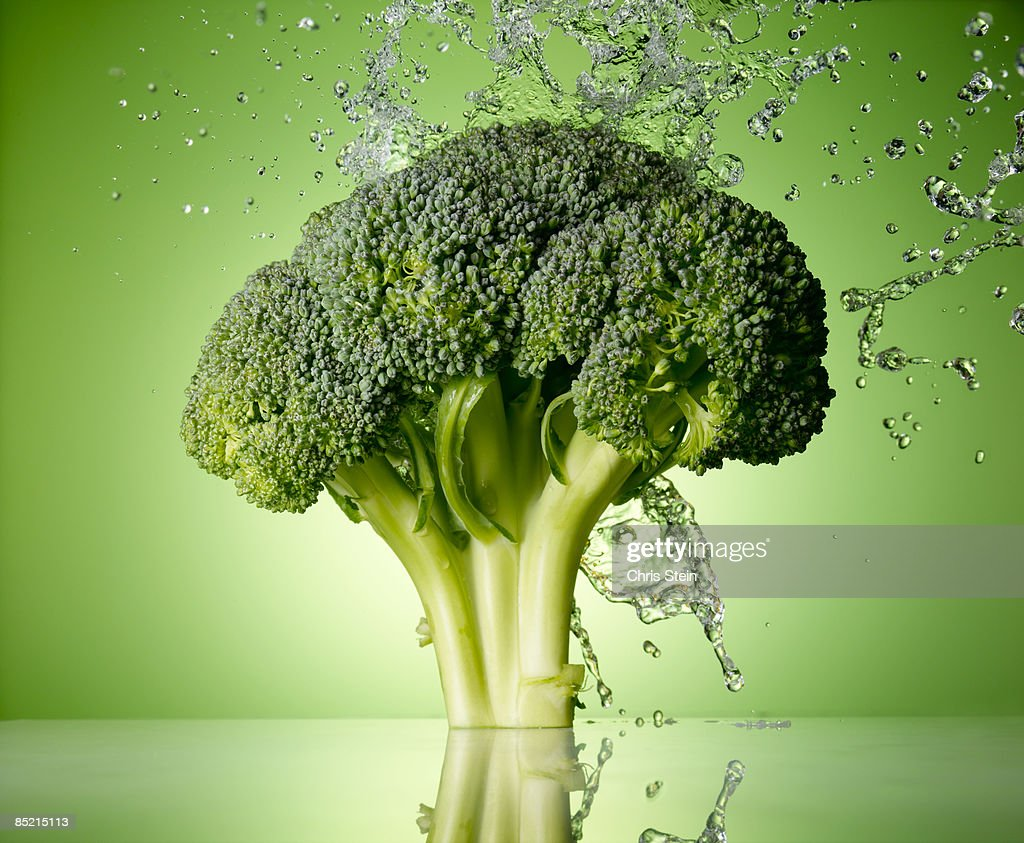 Broccoli Splash : Stock Photo