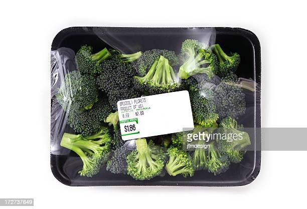 broccoli supermarket black tray