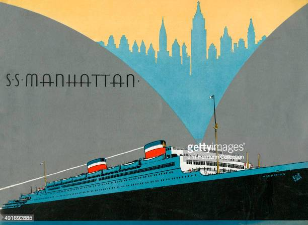 A brochure for the SS Manhattan from 1932 in USA