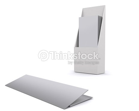 Brochure Holder Template For Designers Display Folder Blank Stock