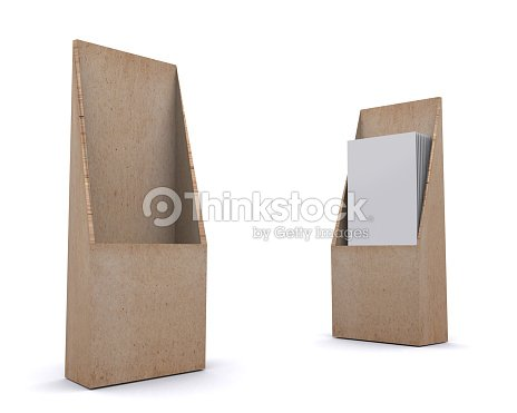 Brochure Holder Template For Designers Display Folder Recycle Stock