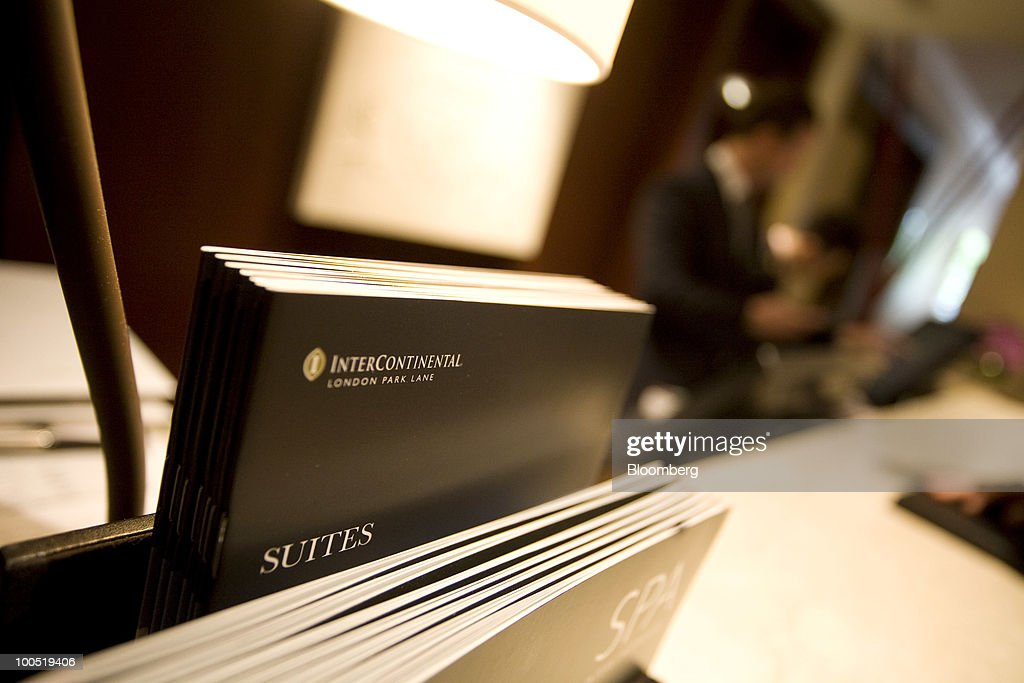 Brochures Are Displayed In The Lobby Of Intercontinental Hotels Group Plc S Hotel