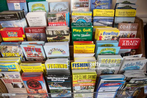 Brochures for local amusements and activities at Sea View in Old Orchard Beach