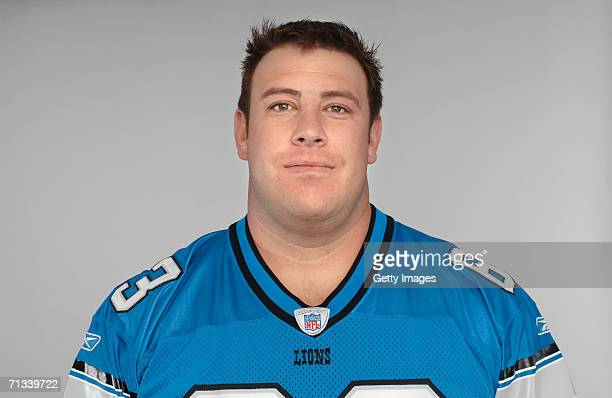 Brock Gutierrez of the Detroit Lions poses for his 2006 NFL headshot at photo day in Detroit Michigan