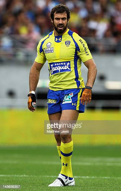 Brock James of ASM Clermont Auvergne in action during the French Top 14 Semi Final match between ASM Clermont Auvergne and RC Toulon at the Stade de...