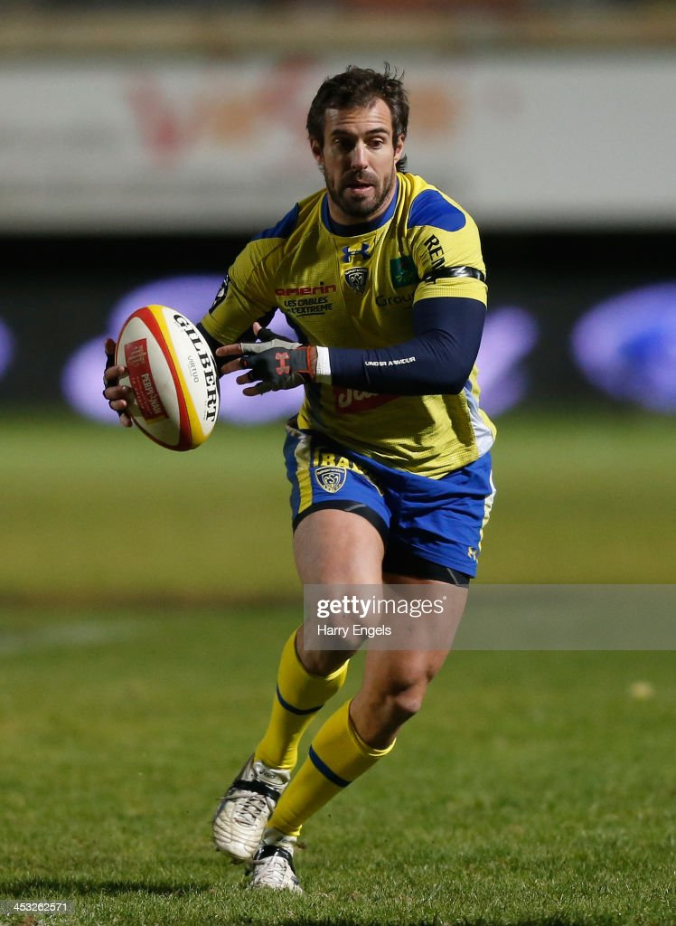 <a gi-track='captionPersonalityLinkClicked' href=/galleries/search?phrase=Brock+James&family=editorial&specificpeople=636412 ng-click='$event.stopPropagation()'>Brock James</a> of ASM Clermont Auvergne in action during the Top 14 match between Perpignan and ASM Clermont Auvergne at Stade Aime Giral on November 29, 2013 in Perpignan, France.