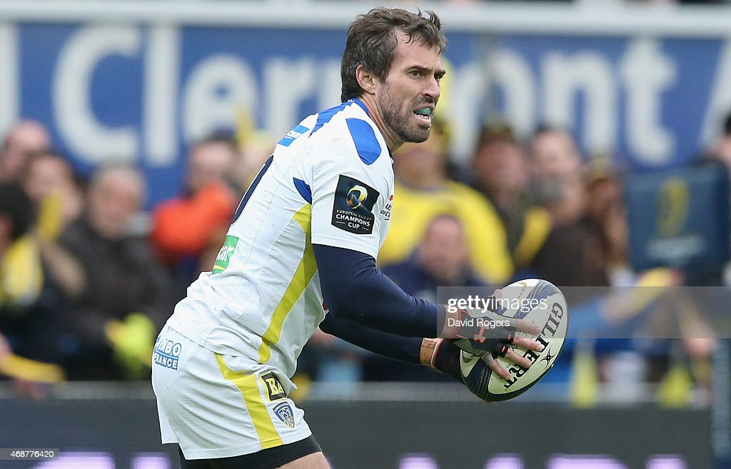 <a gi-track='captionPersonalityLinkClicked' href=/galleries/search?phrase=Brock+James&family=editorial&specificpeople=636412 ng-click='$event.stopPropagation()'>Brock James</a> of Clermont Auvergne runs with the ball during the European Rugby Champions Cup quarter final match between Clermont Auvergne and Northampton Saints at the Stade Marcel Michelin on April 4, 2015 in Clermont-Ferrand, France.