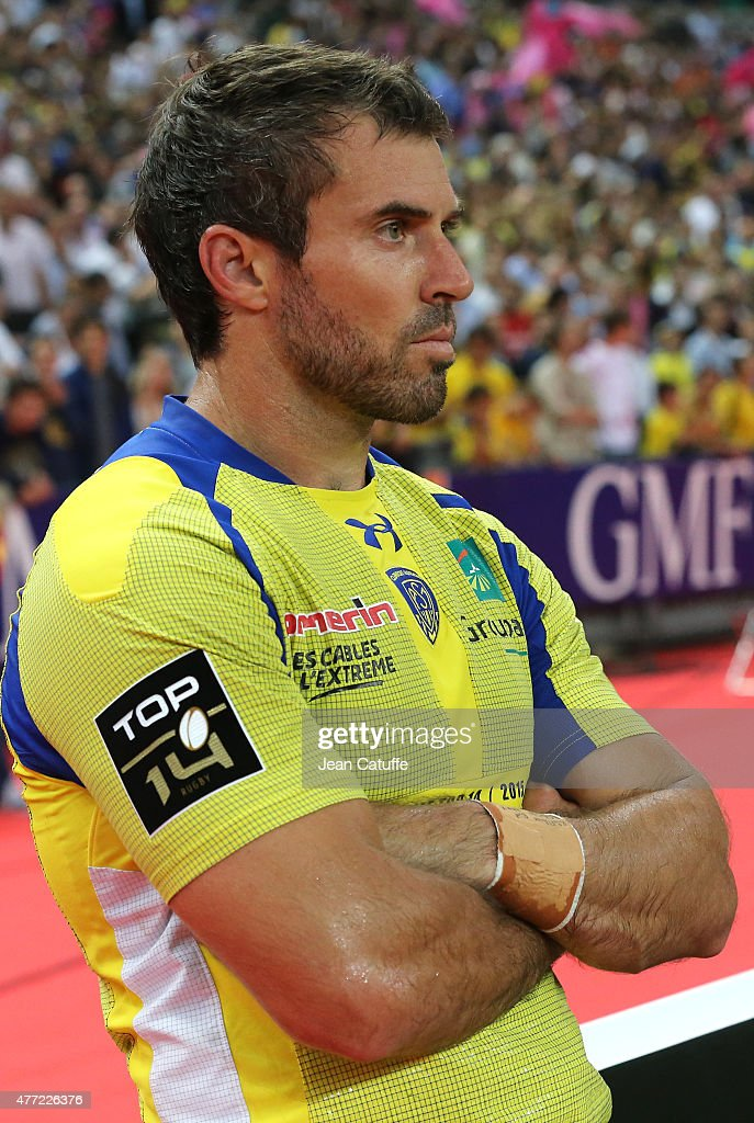 <a gi-track='captionPersonalityLinkClicked' href=/galleries/search?phrase=Brock+James&family=editorial&specificpeople=636412 ng-click='$event.stopPropagation()'>Brock James</a> of Clermont looks dejected after the Top 14 Final between ASM Clermont Auvergne and Stade Francais Paris at Stade de France on June 13, 2015 in Saint-Denis nearby Paris, France.