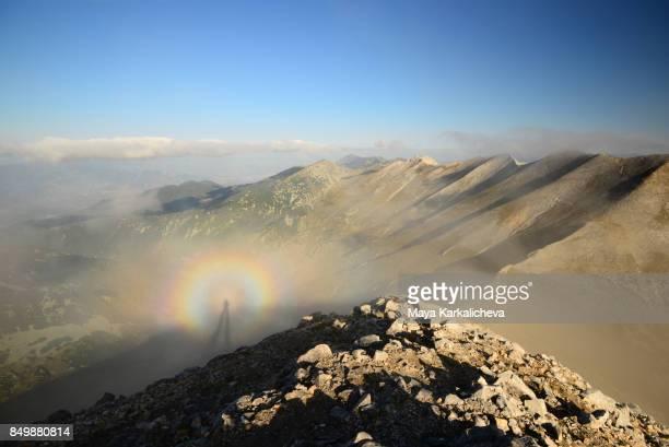 Brocken spectre, Pirin mountain, Vihren peak, Bulgaria, Europe