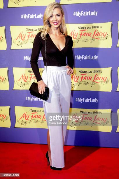Brodie Harper arrives ahead of opening night of My Fair Lady at Regent Theatre on May 16 2017 in Melbourne Australia
