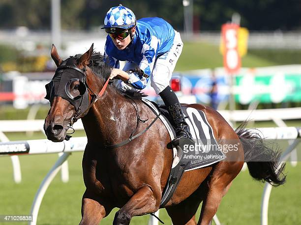 Brodie Loy rides Major Major to win race 3 The HMAS Sydney Handicap during Sydney Racing at Royal Randwick Racecourse on April 25 2015 in Sydney...