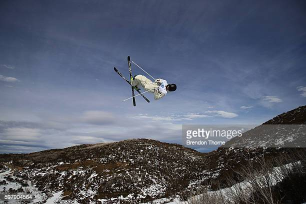 Brodie Summers of Australia competes during the Subaru Australian Mogul Championships on August 30 2016 in Perisher Australia
