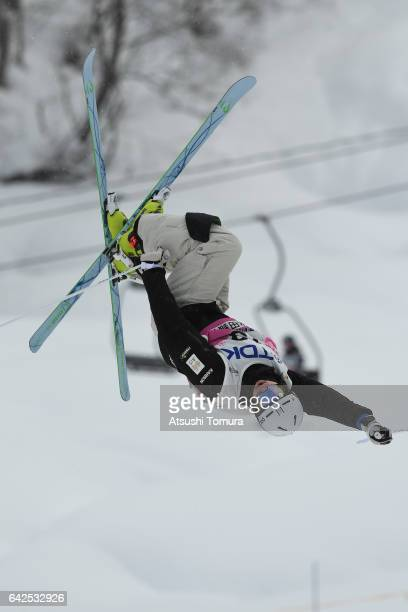 Brodie Summers of Australia competes in the men's moguls after during 2017 FIS Freestyle Ski World Cup Tazawako In Akita supported by TDK at Tazawako...