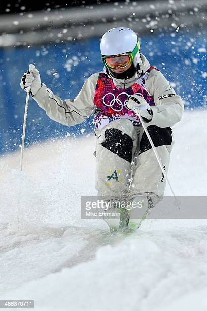 Brodie Summers of Australia competes in the Men's Moguls Finals on day three of the Sochi 2014 Winter Olympics at Rosa Khutor Extreme Park on...