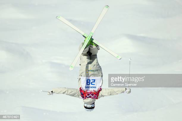 Brodie Summers of Australia during the Men's and Ladies Moguls official training session ahead of the the Sochi 2014 Winter Olympics at Rosa Khutor...