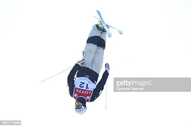 Brodie Summers of Australia skis during FIS Freestyle Ski World Cup 2016/17 Mens Moguls training at Bokwang Snow Park on February 11 2017 in...