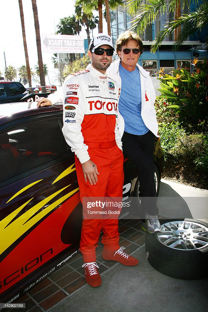 Brody Jenner (L) and Bruce Jenner pose at the 36th Annual 2012 Toyota Pro/Celebrity Race on April 14, 2012 in Long Beach, California.