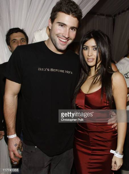 Brody Jenner and Kim Kardashian during TMobile Sidekick 3 Dwyane Wade Edition Launch Party Inside at The Palms in Las Vegas Nevada United States
