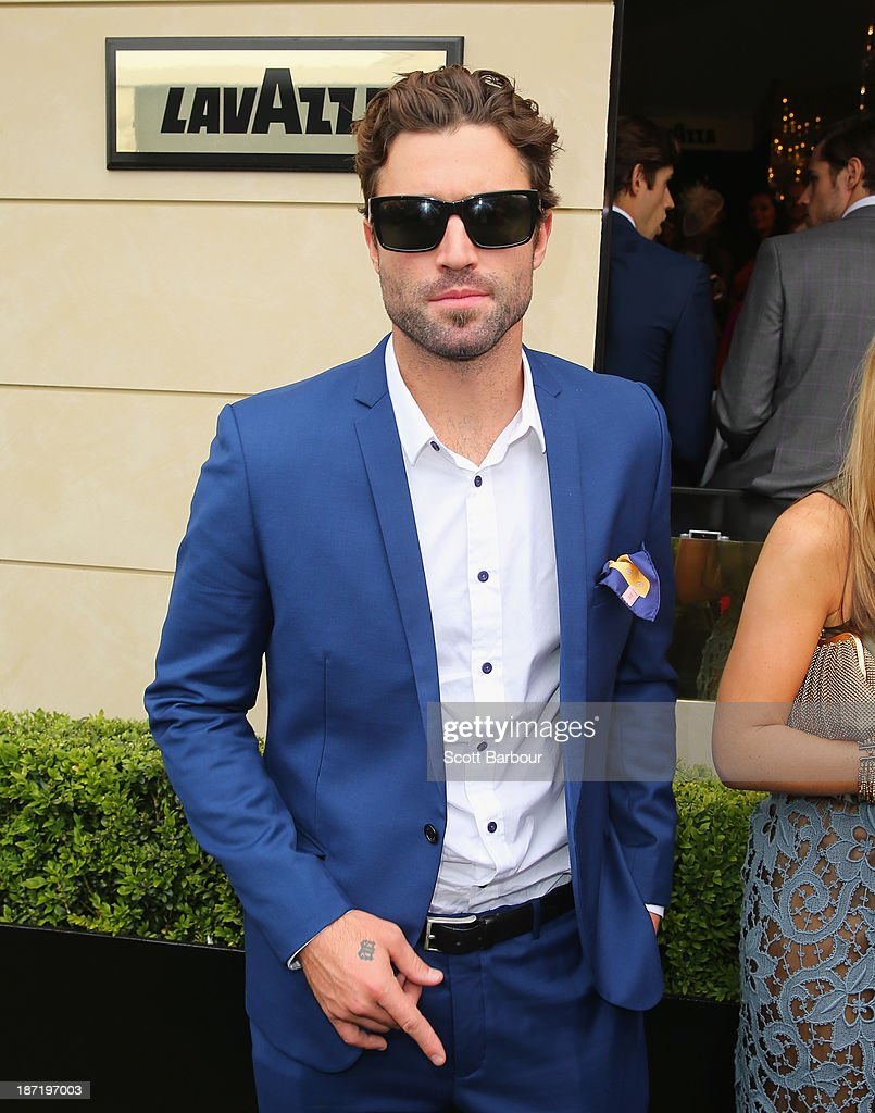 <a gi-track='captionPersonalityLinkClicked' href=/galleries/search?phrase=Brody+Jenner&family=editorial&specificpeople=689564 ng-click='$event.stopPropagation()'>Brody Jenner</a> attends the Lavazza marquee during Oaks Day at Flemington Racecourse on November 7, 2013 in Melbourne, Australia.