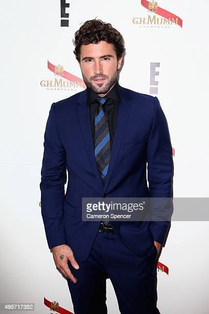 Brody Jenner poses in the Mumm Marquee on Oaks Day at Flemington Racecourse on November 5 2015 in Melbourne Australia