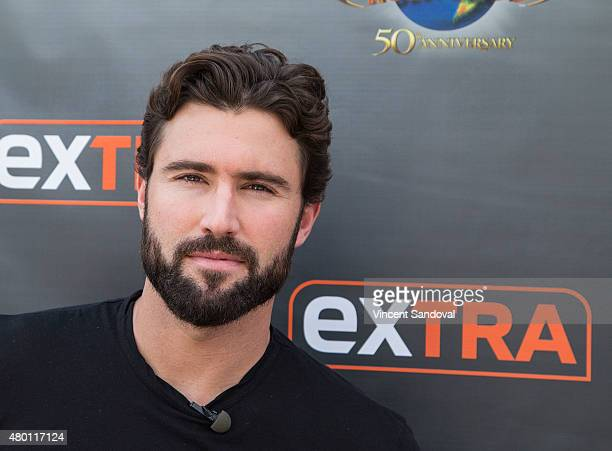 Brody Jenner visits 'Extra' at Universal Studios Hollywood on July 9 2015 in Universal City California