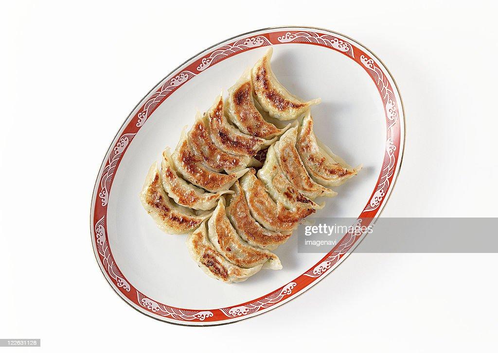 Broiled Gyoza : Stock Photo