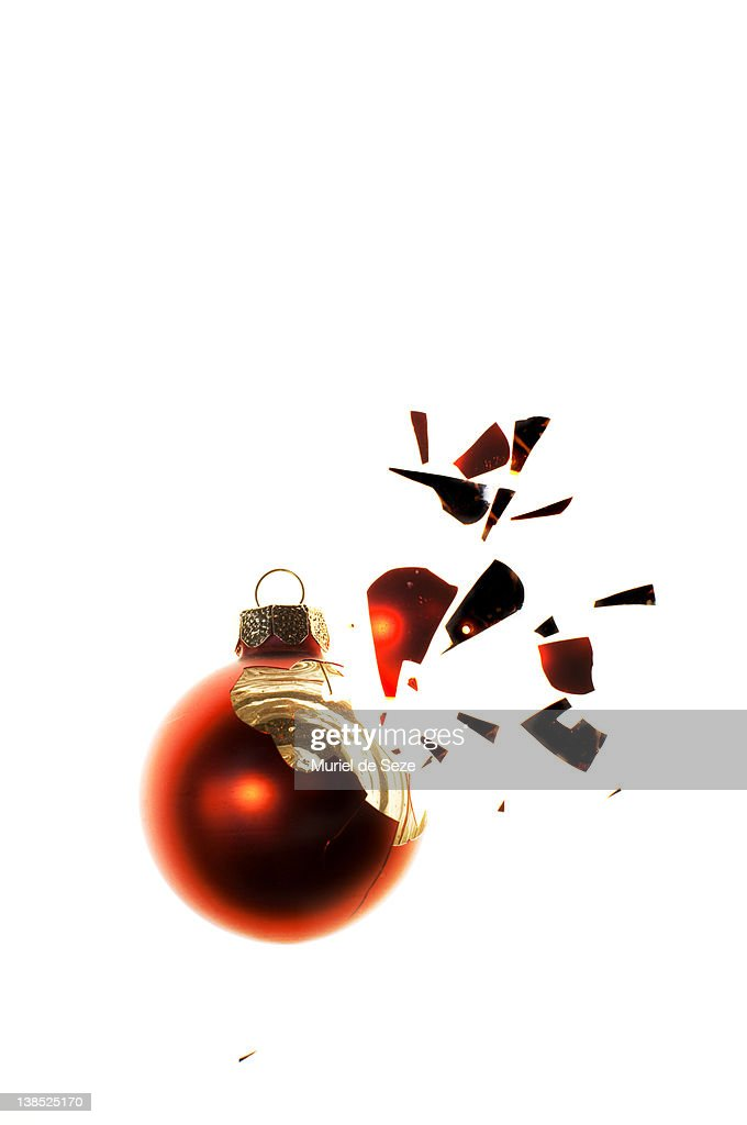 Broken bauble : Stock Photo