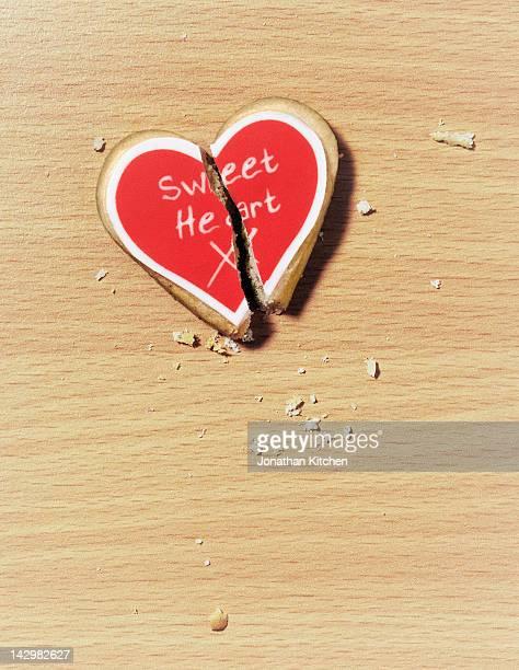 A broken biscuit heart