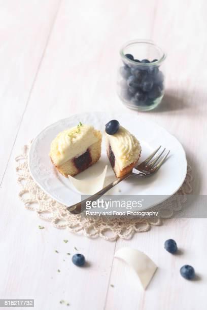 Broken Blueberry Cupcake