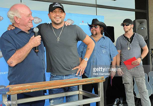 Broken Bow Records CEO/President Benny Brown and Singers/Songwriters Jason Aldean Colt Ford and Brantley Gilbert during the BMI Party honoring 'Dirt...