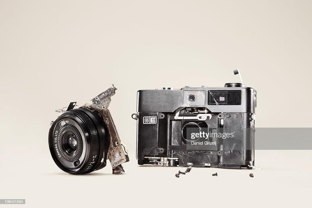 broken camera : Stockfoto