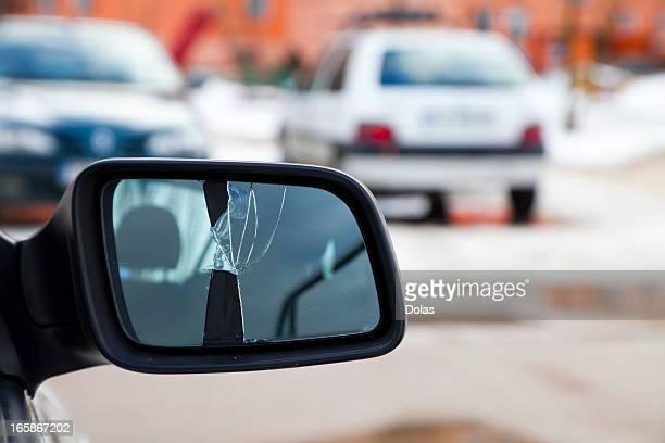 Miroir cassé voiture