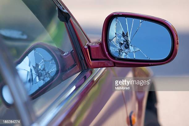 Broken car mirror