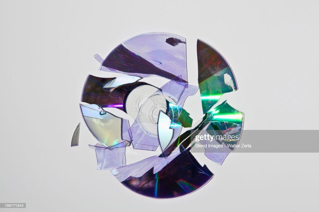 Broken cd rom : Stock Photo