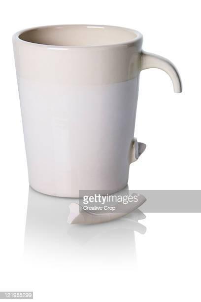 Broken ceramic coffee mug