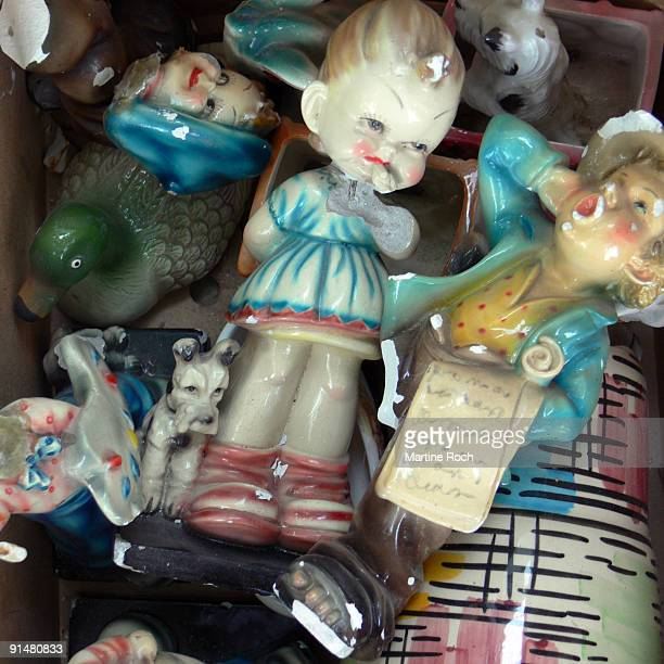 Broken ceramic dolls