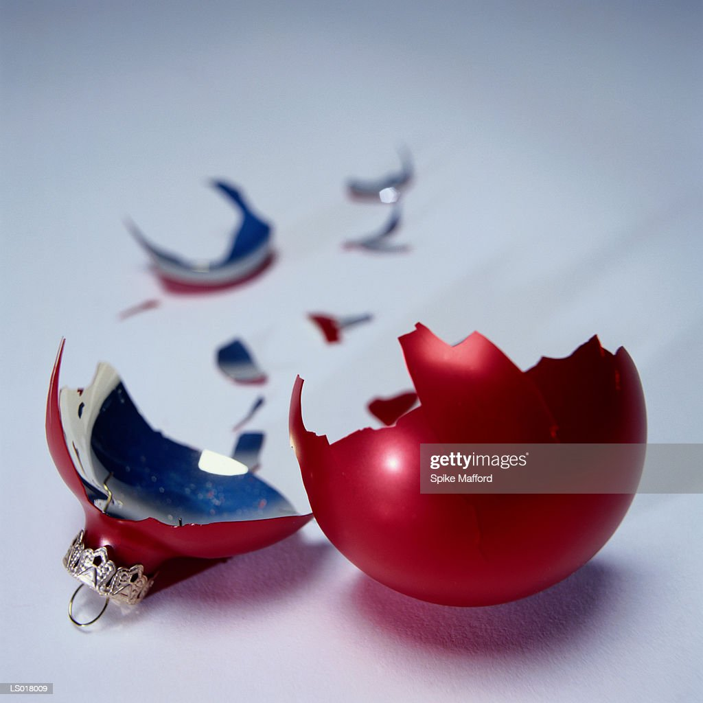 Broken Christmas Ornament : Stock Photo