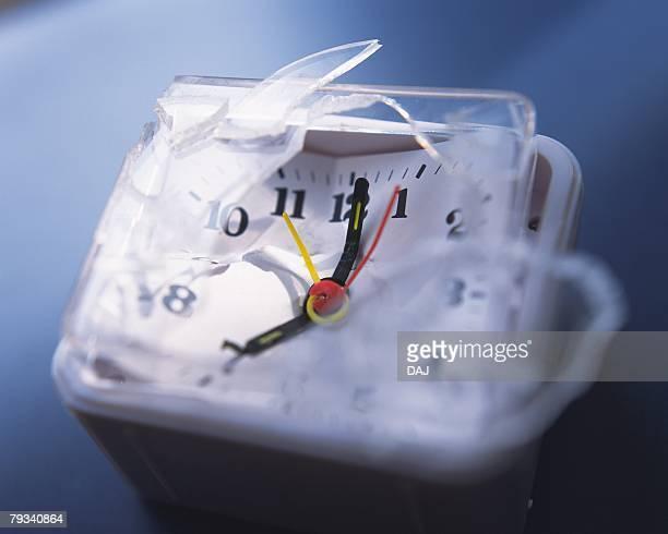 Broken clock indicating seven oclock