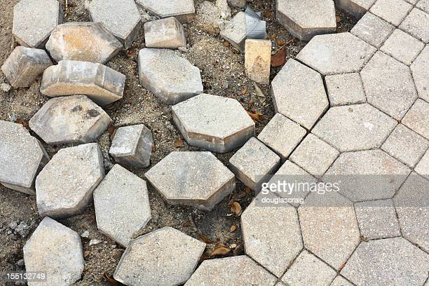 Broken Cobblestone Pavement