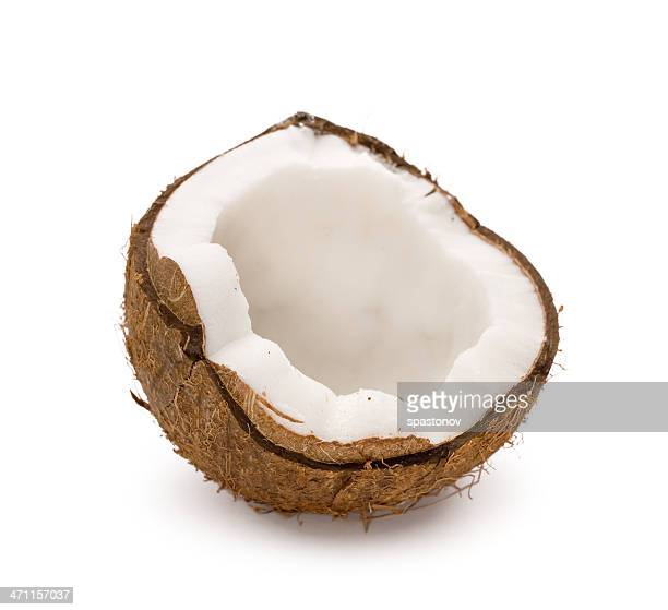 Gebrochene Kokosnuss