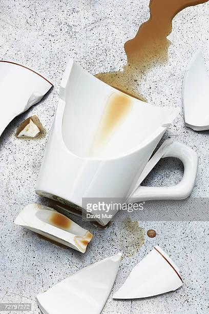 Broken coffee cups
