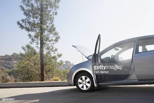 Aufgegliedert Auto auf der Seite der Straße