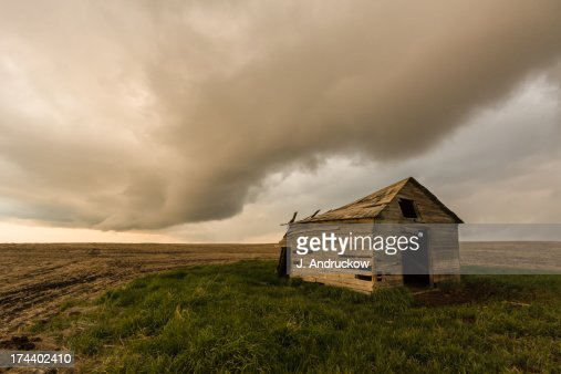 Broken Down Shack with Dramatic Sky