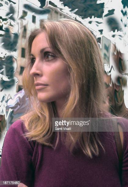 Broken DreamActress Sharon Tate visiting the set of Rosemary's Baby on August 151967 in New York New York