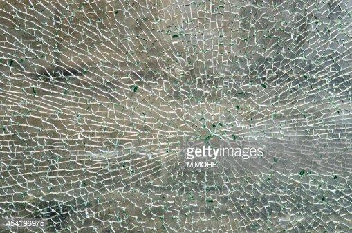 Rotura de vidrio : Foto de stock