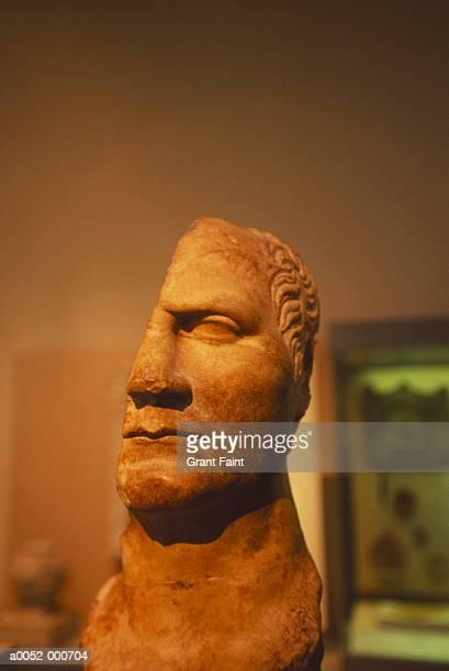 Broken Head of Statue