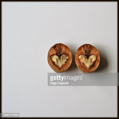 Broken heart in apfelstrudel : Stock Photo