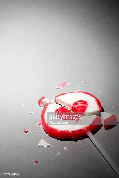 Broken heart lollipop. Love Hurt Pain Valentine's day Candy