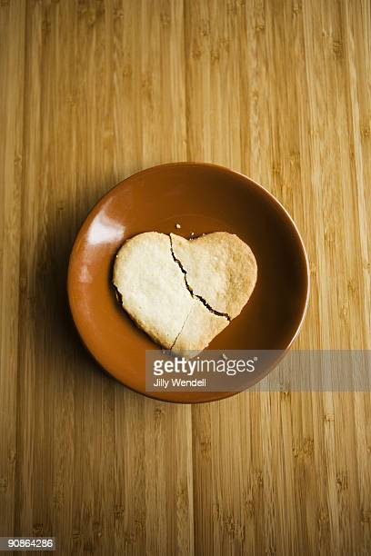 Broken heart shaped cookie