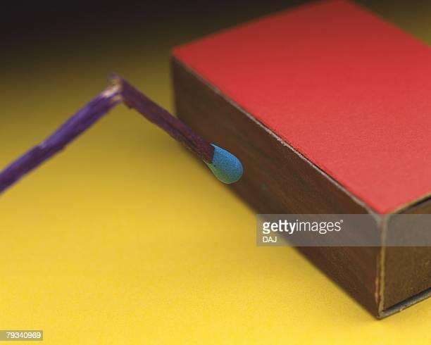 Broken match and box